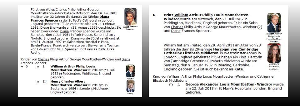 Fotos im Genealogiebericht sind ein echter Hingucker...